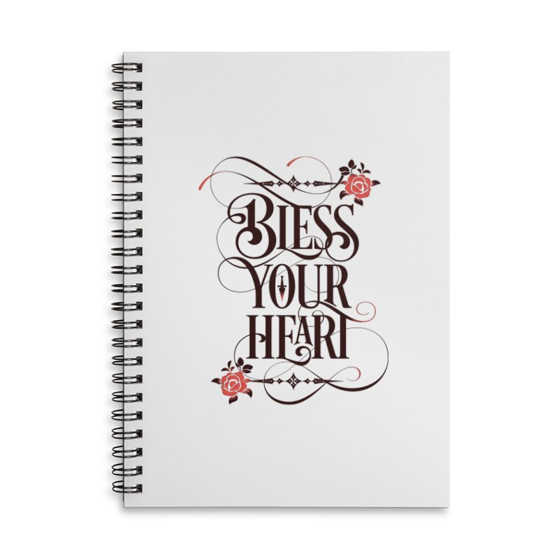 Bless Your Heart - Light Accessories Lined Spiral Notebook by March1Studios on Threadless