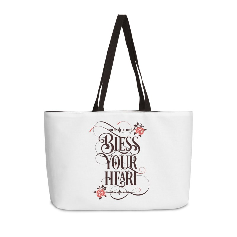 Bless Your Heart - Light Accessories Weekender Bag Bag by March1Studios on Threadless