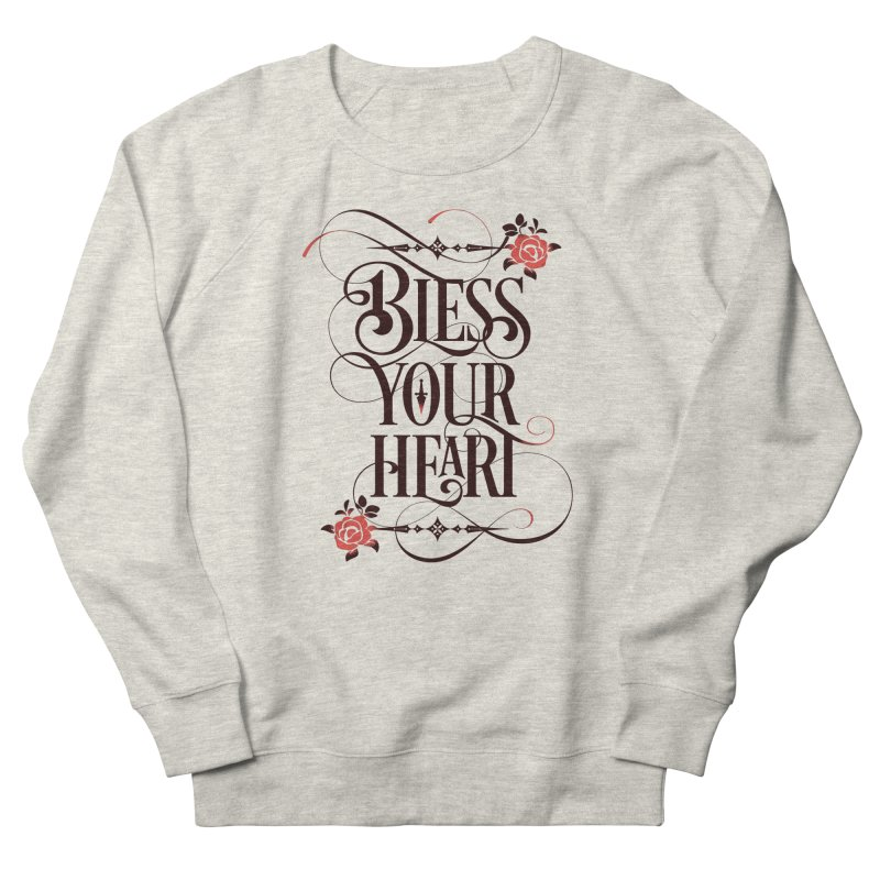 Bless Your Heart - Light Men's French Terry Sweatshirt by March1Studios on Threadless