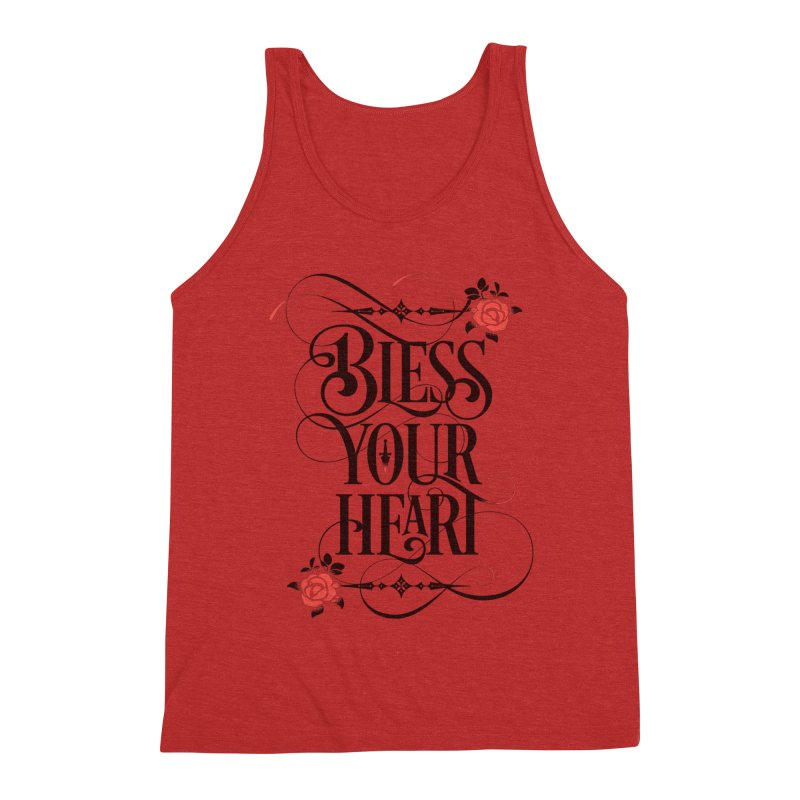 Bless Your Heart - Light Men's Tank by March1Studios on Threadless