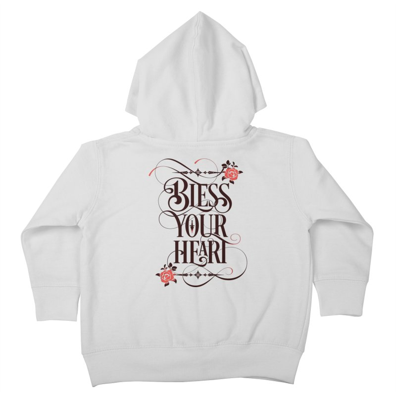 Bless Your Heart - Light Kids Toddler Zip-Up Hoody by March1Studios on Threadless