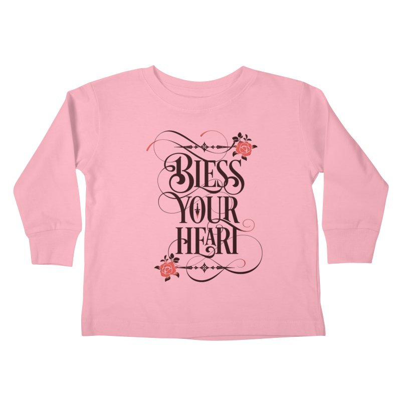 Bless Your Heart - Light Kids Toddler Longsleeve T-Shirt by March1Studios on Threadless