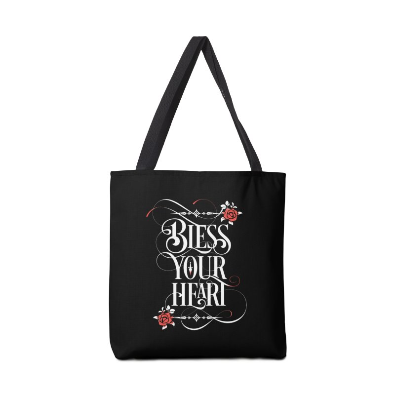 Bless Your Heart - Dark Accessories Tote Bag Bag by March1Studios on Threadless