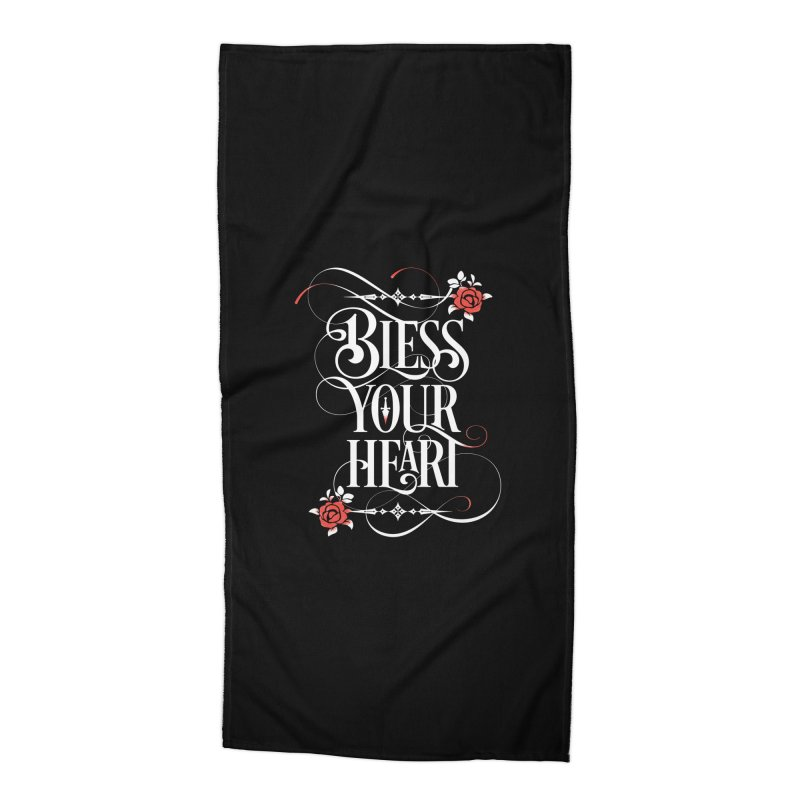 Bless Your Heart - Dark Accessories Beach Towel by March1Studios on Threadless