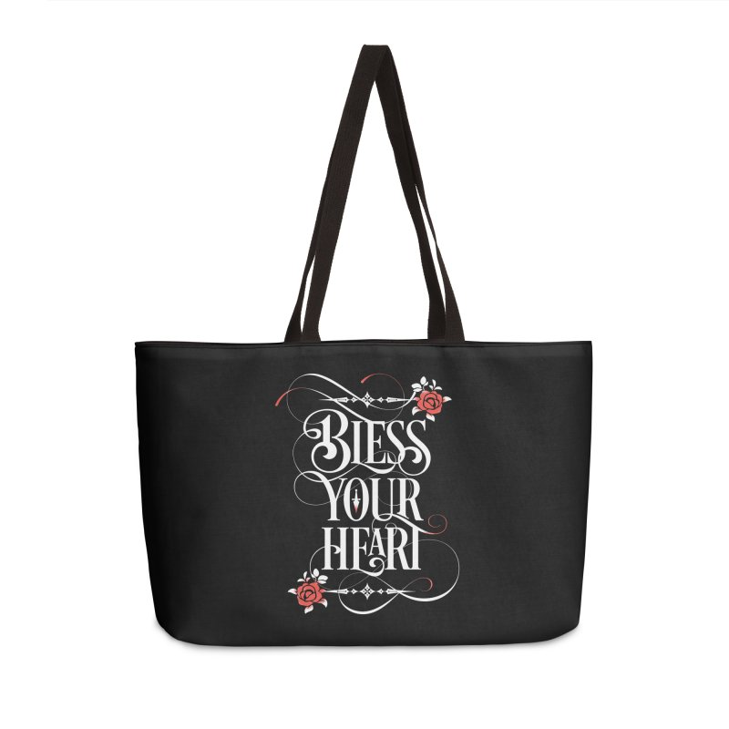 Bless Your Heart - Dark Accessories Weekender Bag Bag by March1Studios on Threadless