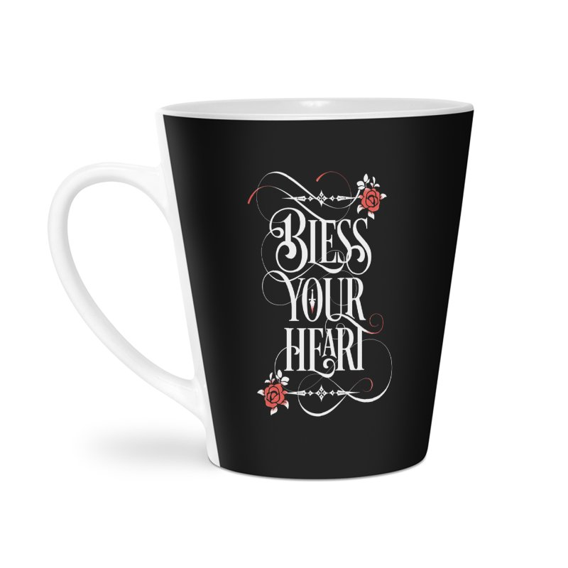 Bless Your Heart - Dark Accessories Latte Mug by March1Studios on Threadless