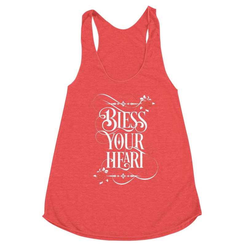 Bless Your Heart - Dark Women's Racerback Triblend Tank by March1Studios on Threadless