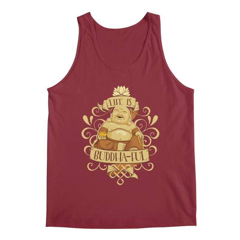 Life is Buddha-ful Men's Regular Tank by March1Studios on Threadless
