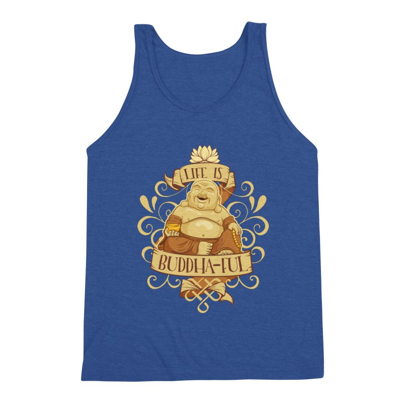 Life is Buddha-ful Men's Tank by March1Studios on Threadless