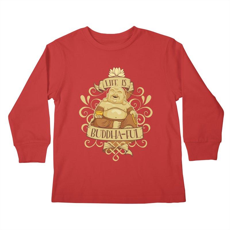 Life is Buddha-ful Kids Longsleeve T-Shirt by March1Studios on Threadless
