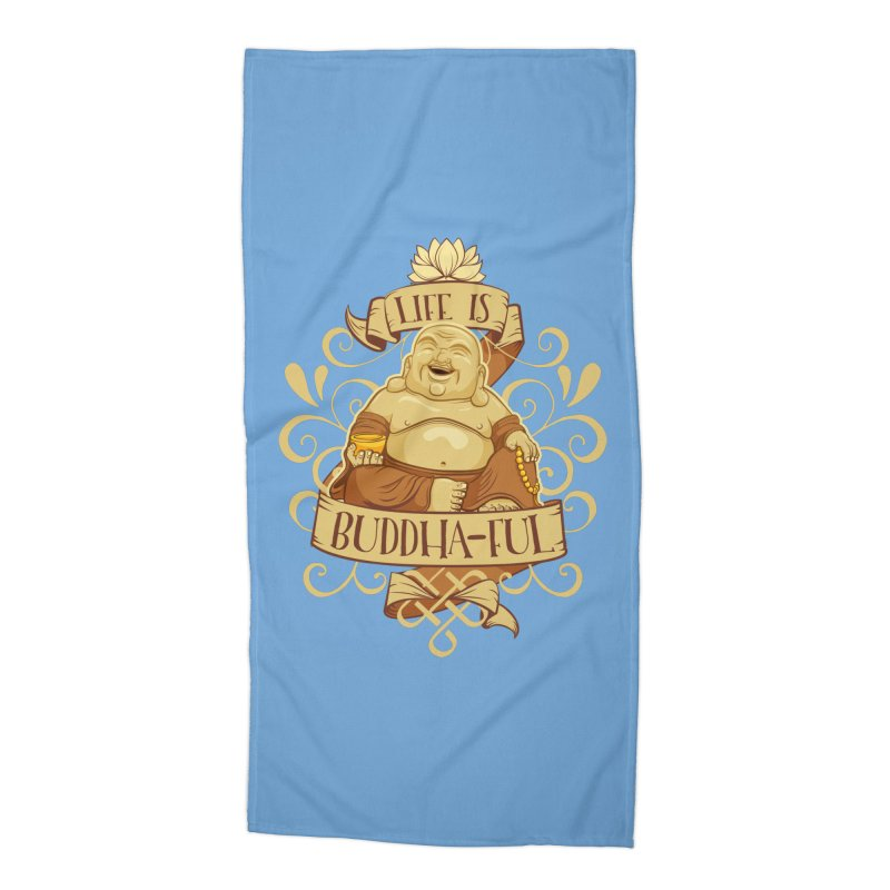 Life is Buddha-ful Accessories Beach Towel by March1Studios on Threadless