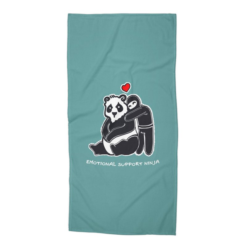 Emotional Support Ninja Accessories Beach Towel by March1Studios on Threadless