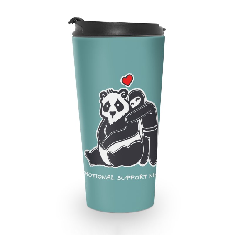 Emotional Support Ninja Accessories Travel Mug by March1Studios on Threadless