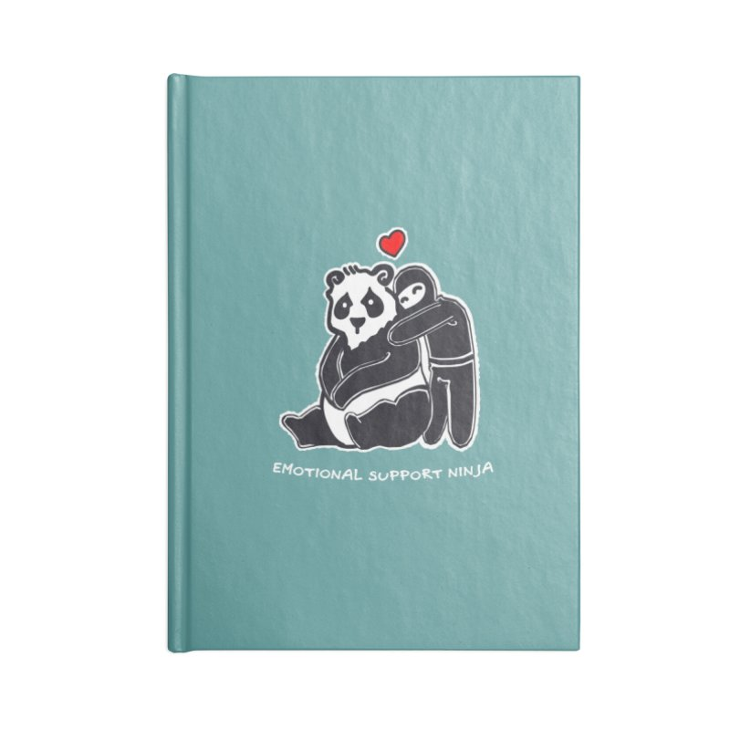 Emotional Support Ninja Accessories Lined Journal Notebook by March1Studios on Threadless