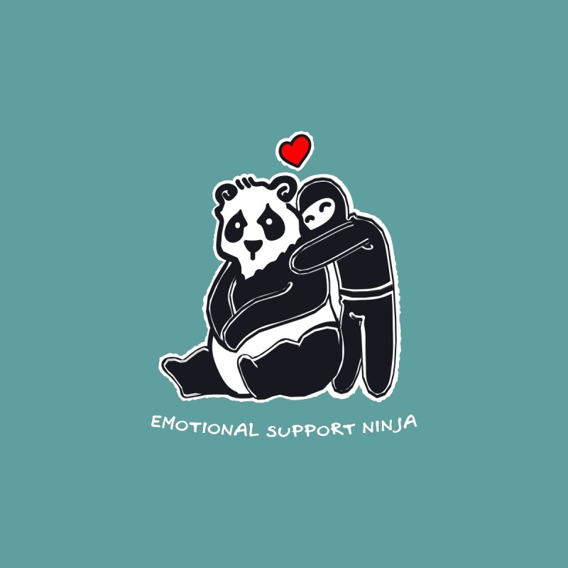 Emotional Support Ninja Women's Longsleeve T-Shirt by March1Studios on Threadless