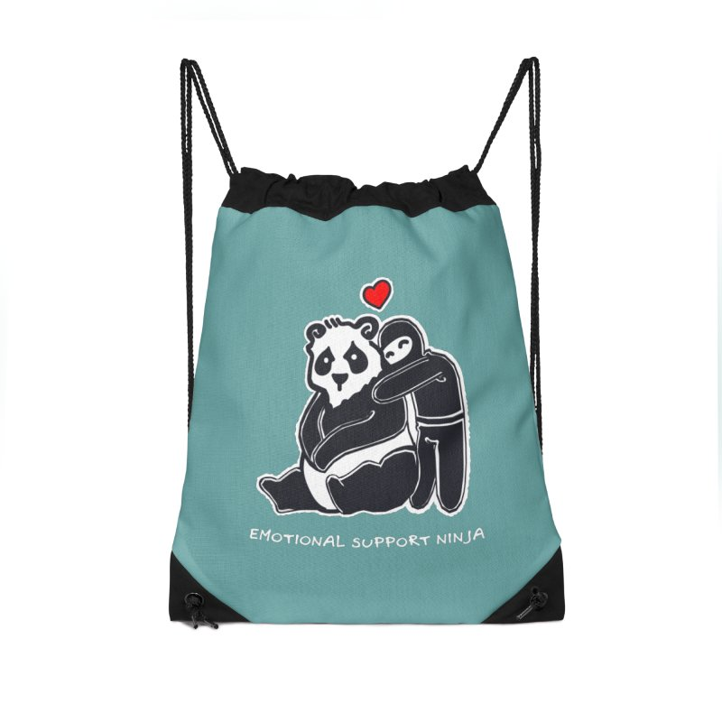 Emotional Support Ninja Accessories Drawstring Bag Bag by March1Studios on Threadless