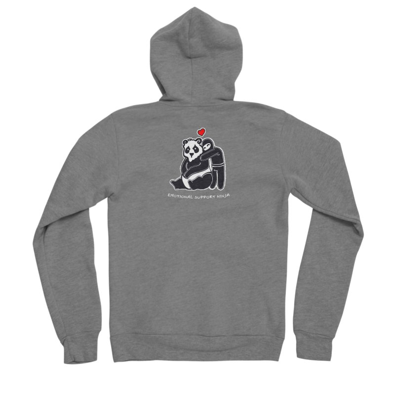 Emotional Support Ninja Women's Sponge Fleece Zip-Up Hoody by March1Studios on Threadless