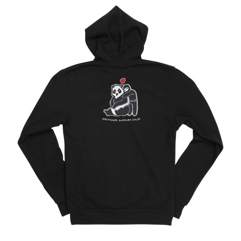 Emotional Support Ninja Men's Sponge Fleece Zip-Up Hoody by March1Studios on Threadless