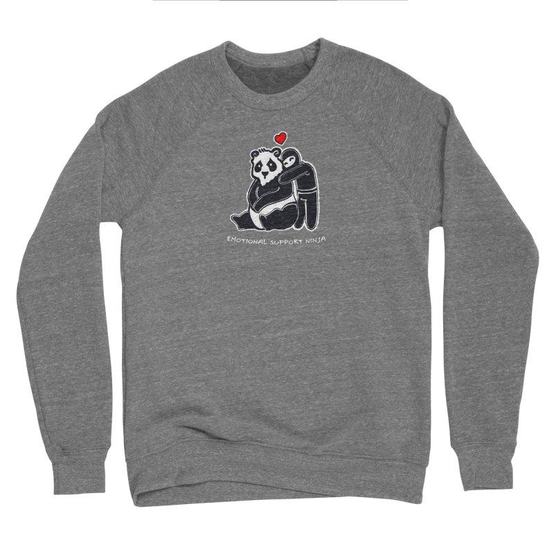 Emotional Support Ninja Women's Sponge Fleece Sweatshirt by March1Studios on Threadless