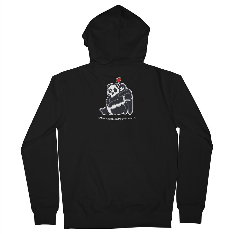 Emotional Support Ninja Women's French Terry Zip-Up Hoody by March1Studios on Threadless