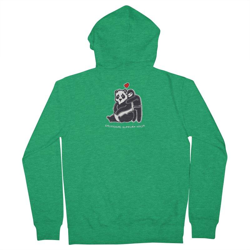 Emotional Support Ninja Men's Zip-Up Hoody by March1Studios on Threadless