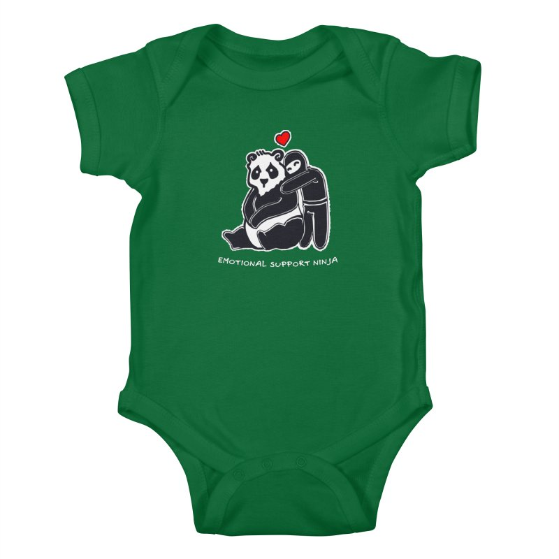 Emotional Support Ninja Kids Baby Bodysuit by March1Studios on Threadless