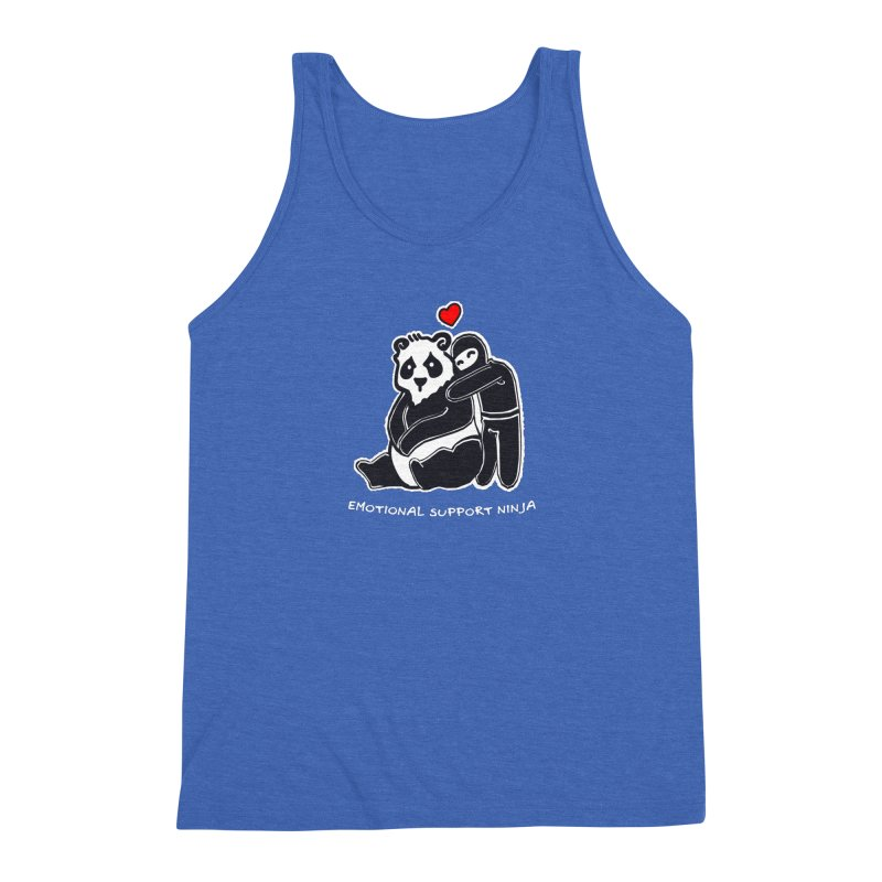 Emotional Support Ninja Men's Triblend Tank by March1Studios on Threadless