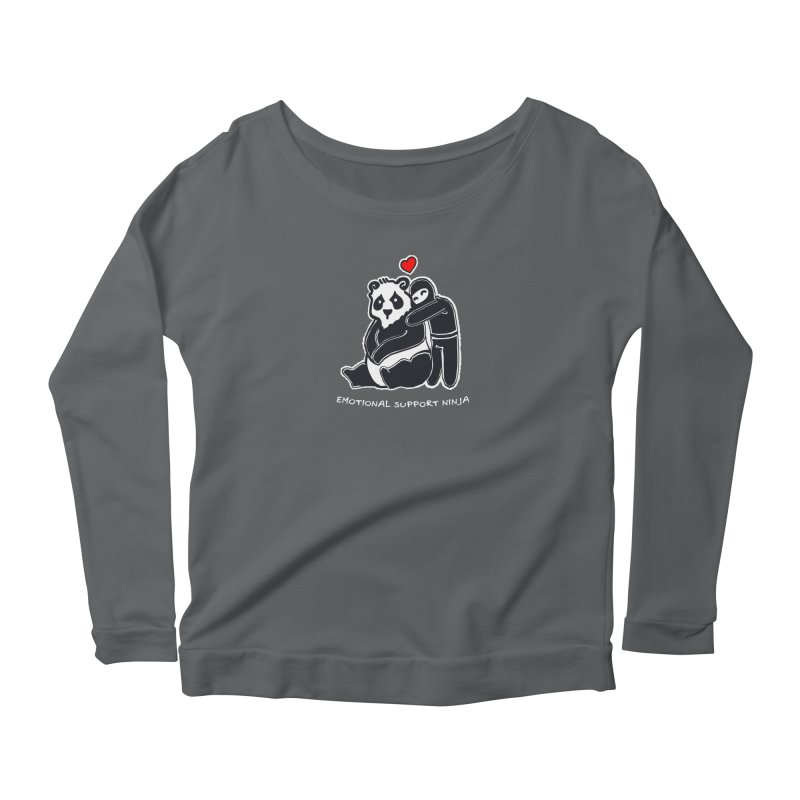 Emotional Support Ninja Women's Longsleeve T-Shirt by March1Studios on Threadless