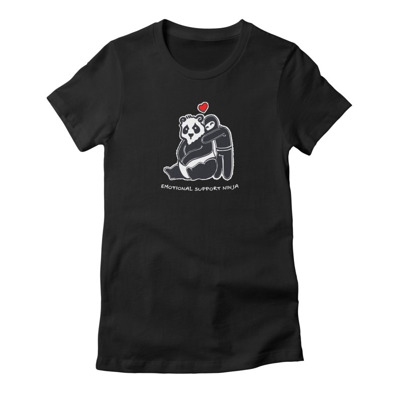 Emotional Support Ninja Women's Fitted T-Shirt by March1Studios on Threadless