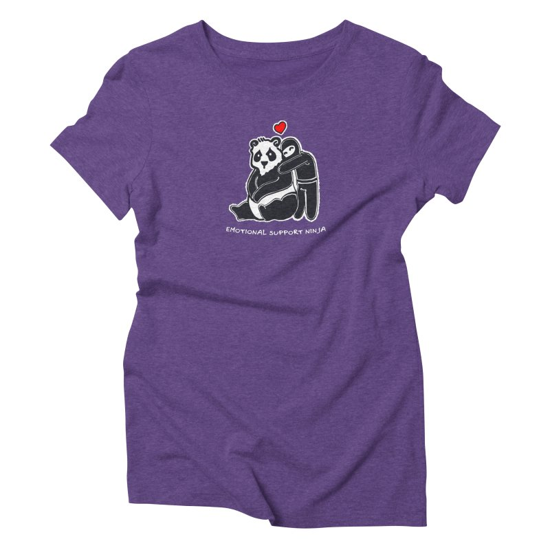 Emotional Support Ninja Women's Triblend T-Shirt by March1Studios on Threadless