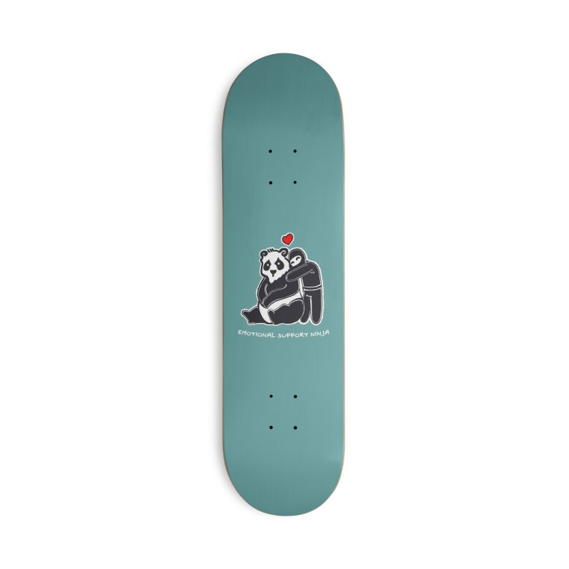 Emotional Support Ninja Accessories Skateboard by March1Studios on Threadless