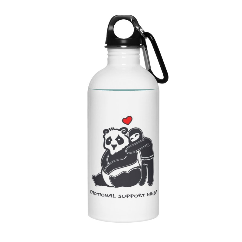 Emotional Support Ninja Accessories Water Bottle by March1Studios on Threadless
