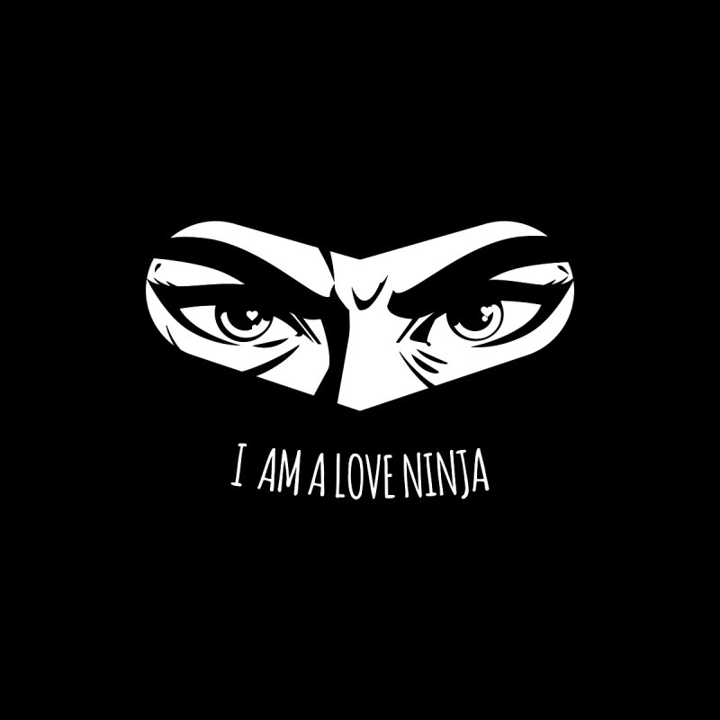 I am a Love Ninja Accessories Bag by March1Studios on Threadless