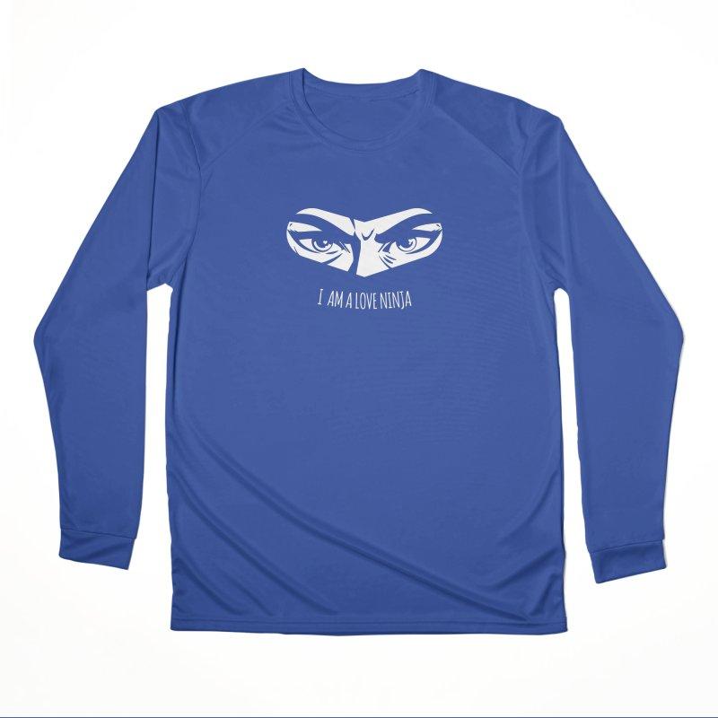 I am a Love Ninja Men's Performance Longsleeve T-Shirt by March1Studios on Threadless