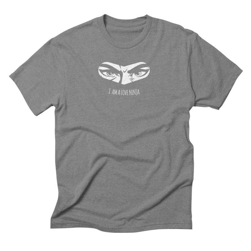 I am a Love Ninja Men's Triblend T-Shirt by March1Studios on Threadless