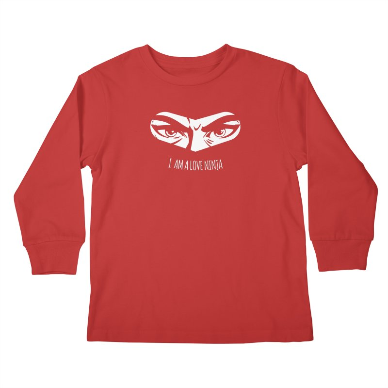 I am a Love Ninja Kids Longsleeve T-Shirt by March1Studios on Threadless