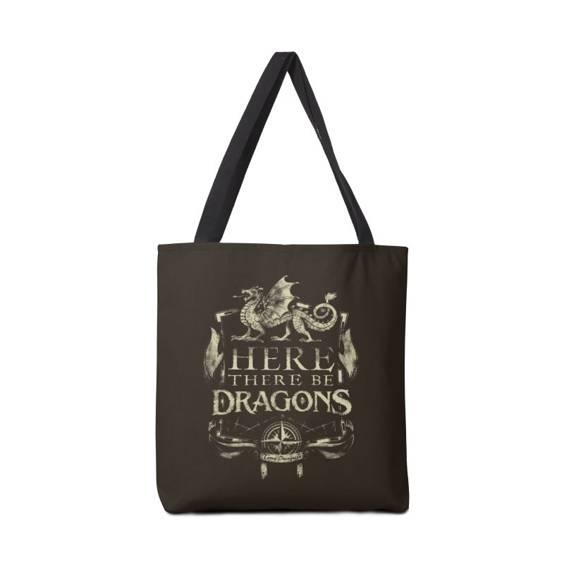 Here There Be Dragons Accessories Tote Bag Bag by March1Studios on Threadless