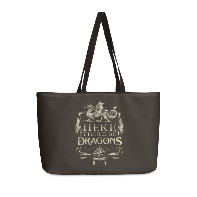 Here There Be Dragons Accessories Bag by March1Studios on Threadless