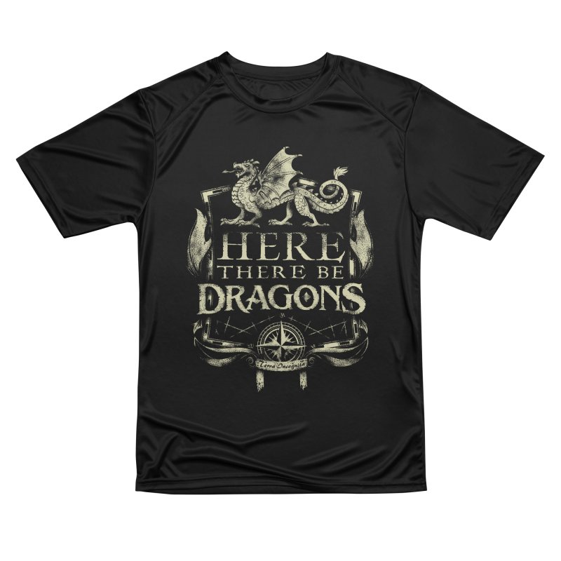 Here There Be Dragons Men's T-Shirt by March1Studios on Threadless