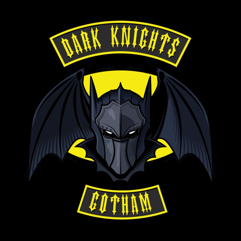 Gotham Dark Knights Motorcycle Club Patch Men's T-Shirt by March1Studios on Threadless