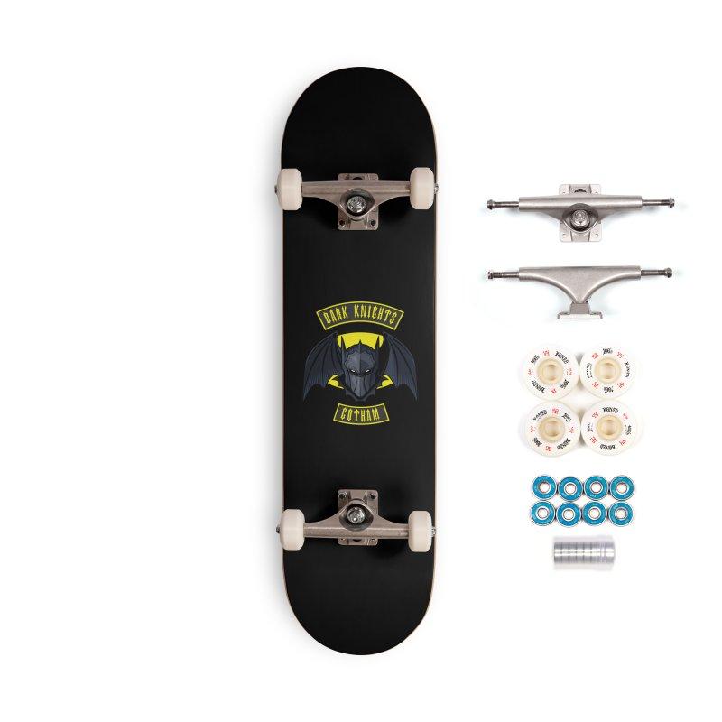 Gotham Dark Knights Motorcycle Club Patch Accessories Skateboard by March1Studios on Threadless