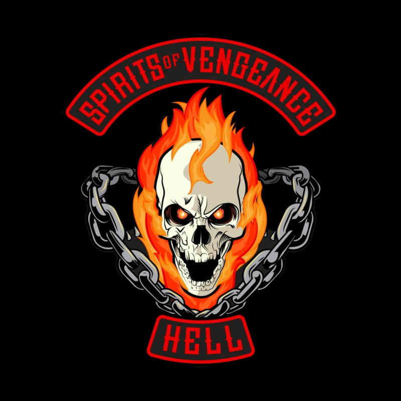 Spirits of Vengeance Motorcycle Club Patch Men's T-Shirt by March1Studios on Threadless