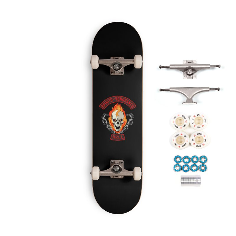 Spirits of Vengeance Motorcycle Club Patch Accessories Skateboard by March1Studios on Threadless