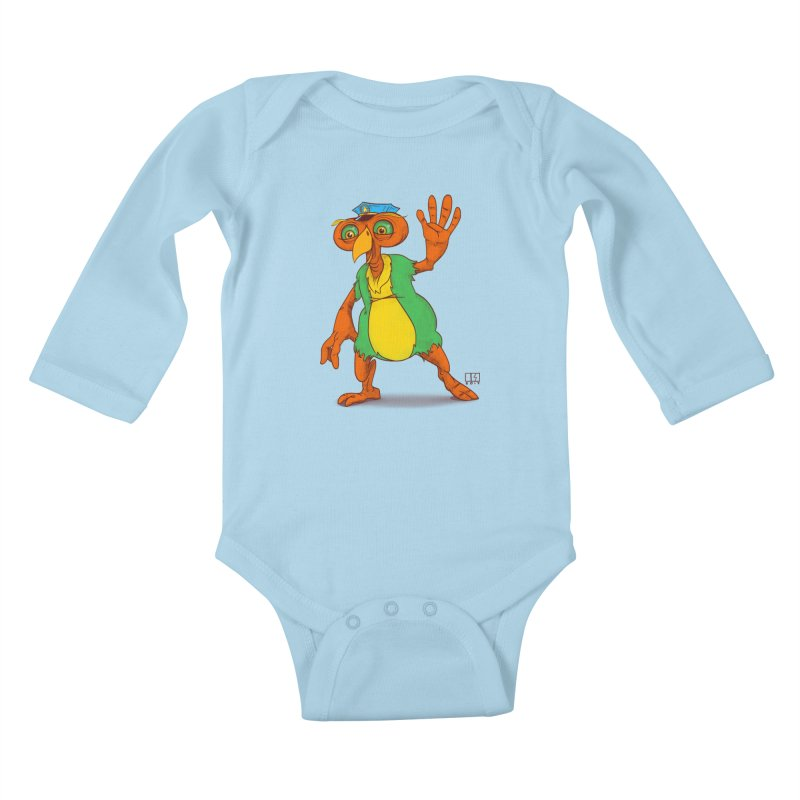 Lane Kids Baby Longsleeve Bodysuit by march1studios's Artist Shop