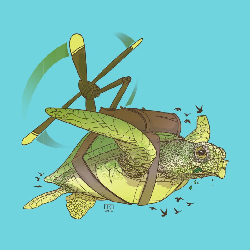Fred the Giant Flying Laser-Eyed Turtle None  by march1studios's Artist Shop