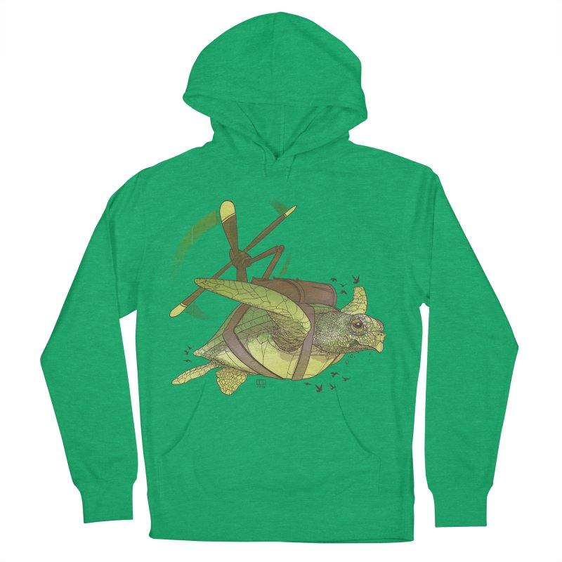 Fred the Giant Flying Laser-Eyed Turtle Men's Pullover Hoody by march1studios's Artist Shop