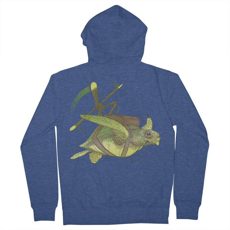 Fred the Giant Flying Laser-Eyed Turtle Women's French Terry Zip-Up Hoody by March1Studios on Threadless