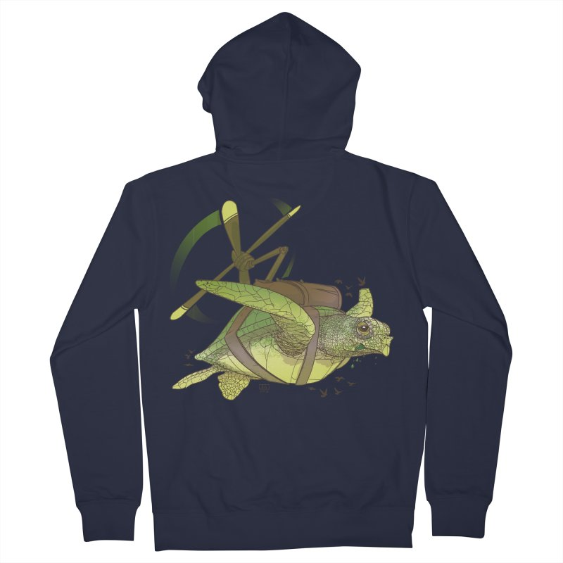 Fred the Giant Flying Laser-Eyed Turtle Women's Zip-Up Hoody by march1studios's Artist Shop