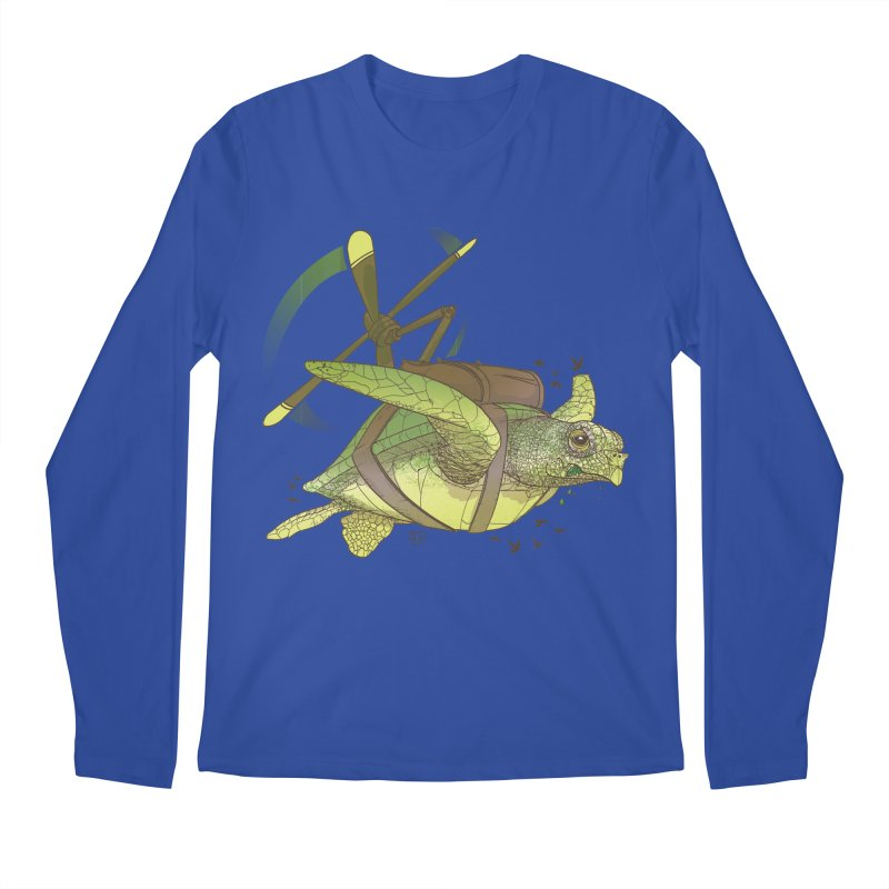 Fred the Giant Flying Laser-Eyed Turtle Men's Longsleeve T-Shirt by march1studios's Artist Shop