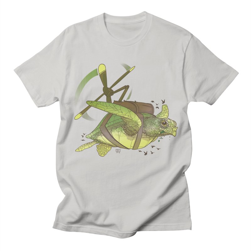 Fred the Giant Flying Laser-Eyed Turtle Men's T-shirt by march1studios's Artist Shop